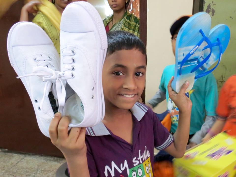 Moeloco is a social enterprise giving shoes to kids