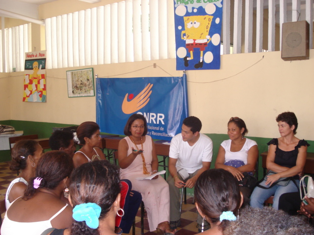 As a member of Colombia's National Commission for  Reparation and Reconciliation, I advised individuals and  communities affected by the internal armed conflict in  Sucre (Montes de María region) and Cordoba's Southern  region on the exercise of their rights to truth, justice and  reparation. Getting people to speak openly about the  atrocities perpetrated by former paramilitary groups took  months and required the involvement of civic and spiritual  leaders.